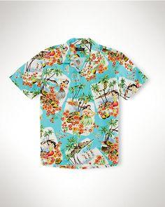 Hawaiian Camp Shirt - Standard-Fit  Casual Shirts - RalphLauren.com