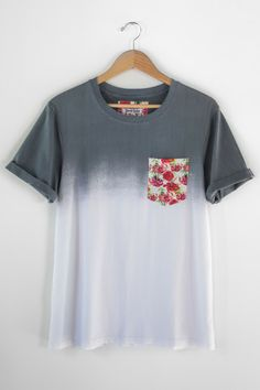 Smooth Sailing Co. - a smaller but up and coming clothing line -- Just got this dip dye floral pocket tee :)