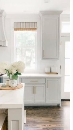 Grey Bathroom Cabinets, Light Gray Cabinets, Best Kitchen Cabinets, Bathroom Laundry, Kitchen Cabinet Colors, Painting Kitchen Cabinets, Painted Gray Cabinets, Blue Gray Kitchen Cabinets, Traditional Kitchen Cabinets