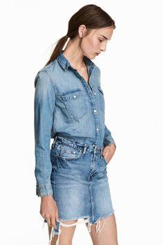 068dc6ff55 H M Denim Shirt  14.99. Jeans Bleu ...