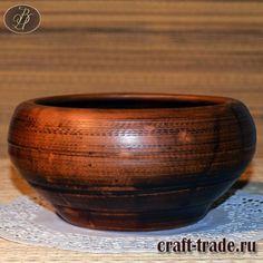 Керамический салатник Чугунок  - гончарная посуда из глины купить в интернет магазине Рукоделец