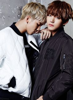 Rap Monster and V. <3 <3