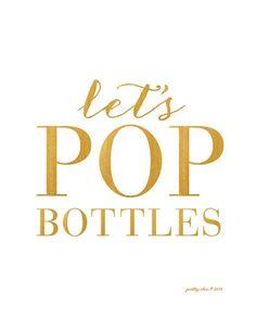 Let's POP Bottles! Bar Cart Art by prettychicsf