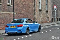 F83 BMW M4 Convertible looks great in Yas Marina Blue Photo