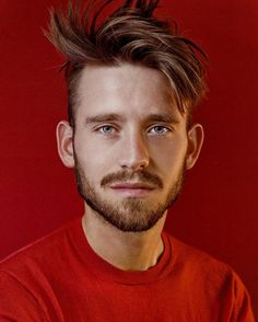 GEORGE THE 2ND    another shot of @georgevanee in bright red #portrait #model #malemodel #newface #instamodel #guy #boy #man #fashion #style #editorial #hot #red #beard #eyes #blue #bright #saturation #color #pose #cool #fun #happy #portfolio #photoshoot #photography by robster16