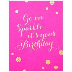 The Social Type Sparkle Birthday
