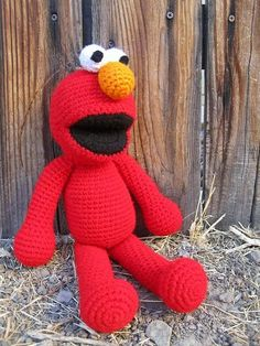 Elmo sesame street free crochet pattern muppet toy stuffed