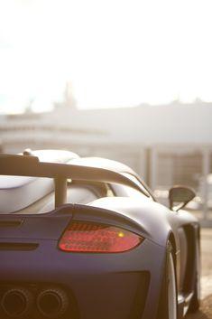 Tuned Matte Blue Porsche Carrera GT