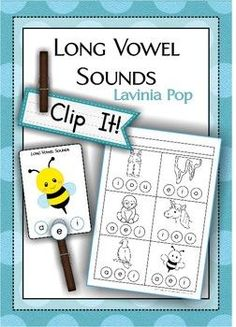 Clip It! - Long Vowel Sounds {FREE} PreK, K, 1st