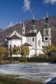 Church of Glarus. Glarus is the capital of the Canton of Glarus in Switzerland. Glarus municipality since 1 January 2011 incorporates the former municipalities of Ennenda, Netstal and Riedern.