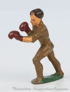 Barclay Manoil Lead Toy Soldier Dime Store Soldier Boxing Gloves rrjjr