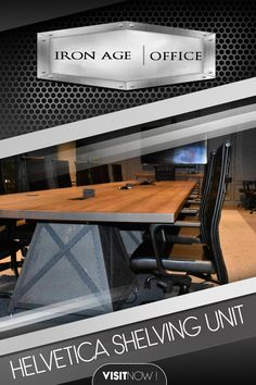 Seated or bar height. Go bold! Impress your clients with this unique conference table. This simple yet bold design will be sure to catch the eye of anyone who sees it. #DOVER #CONFERENCE #TABLE