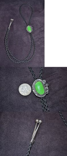Southwestern 164301: Handmade Sterling Silver And Green Turquoise Bolo Tie -> BUY IT NOW ONLY: $66.5 on eBay!