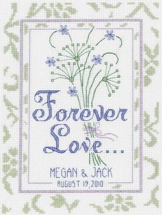 Janlynn - Forever Love Wedding Record Counted Cross Stitch Kit # 021-1367