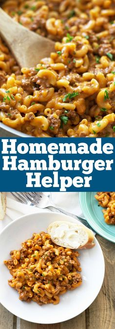 Homemade Hamburger Helper -just as quick and easy as the boxed stuff, but tastes way better! | countrysidecravings.com More