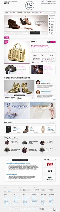 SX Fashion Brand Shop by Dmitry Zyuzin, via Behance