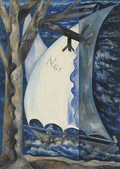 Natalia Goncharova (Russian, 1881-1962), Voilier [Yacht], late 1910s or early 1920s.