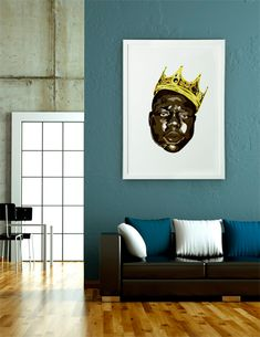 """""""The Notorious B.I.G. / Biggie Smalls"""", Numbered Edition Fine Art Print by Delano Limoen - From $25.00 - Curioos"""