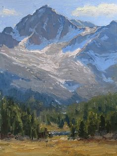 Into the High Country by Kathleen Dunphy Oil ~ 12 x 9 Watercolor Landscape, Landscape Art, Landscape Paintings, Oil Paintings, Landscapes, River Painting, Mountain Paintings, Landscape Pictures, Mountain Landscape