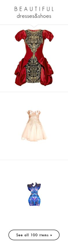 """B E A U T I F U L dresses&shoes"" by nickianna ❤ liked on Polyvore featuring dresses, alexander mcqueen, embellished cocktail dresses, embellished dress, red cocktail dress, silk satin dress, vestidos, pink, short dresses and short pink dress"