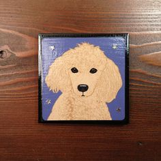 Pop Art apricot Poodle Personal Tile Coaster by Sabyloo on Etsy, $25.00