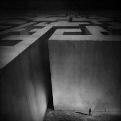 Photography: 10 Conceptual Photos by Polish Artist Marcin Sacha Conceptual Art, Surreal Art, Photomontage, Fantasy Landscape, Fantasy Art, Ghost In The Machine, Skyfall, Photo Manipulation, Maze