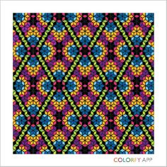 #colorfy #colorfyapp #patterns #quilt #relaxing #fun #mobileapp #googleplay #app #colorful #diamonds #stars