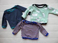 Longsleeve van de droomfabriek. Gratis patroon. karenvandelaer: babylegging en t-shirt