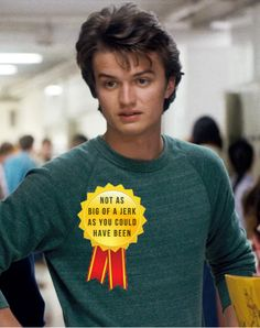 """I finished Stranger Things in 24 hours and had very mixed feelings on Steve""《 yeah steve is...eh"