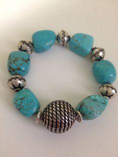 Turquoise bracelet on Etsy, $18.00