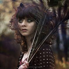 """we are the reckless.."" by Bella Kotak (.bella.), via Flickr. #bella_kotak #photography #women #faces #portraits #martha #feathers #tears #hair #dark #emotion"