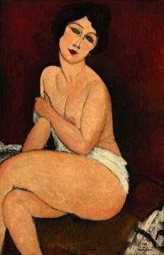 Amedeo Modigliani, Nudo seduto su un divano (La bella romana), 1917