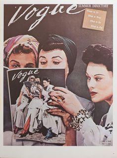 "Vintage Vogue Poster - VOGUE Magazine Cover - June 1941 ""Summer Directory"""