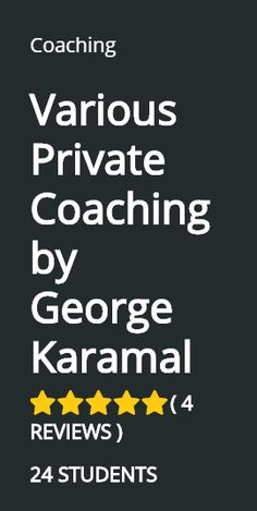 VARIOUS PRIVATE COACHING by George Karamal  Ειδικά Private Coaching προσαρμοσμένα στις ανάγκες, τα θέλω και τους στόχους του καθενός ξεχωριστά.  #eBay #amazon #dropshipping  https://plus.google.com/u/0/photos/photo/112187437467713112981/6340852717871064850?icm=false&authkey=CMfznJjJ3I7sswE