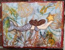 Mixed Media Mermaid canvas  $45