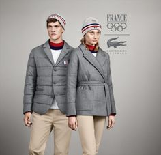 Lacoste French Olympic team Sochi 2014 - As a brand that does both athletics and fashionable clothing, it's obvious that Lacoste was the right option to mix both sport and stylishness. The French team will easily be the belle of the ball.