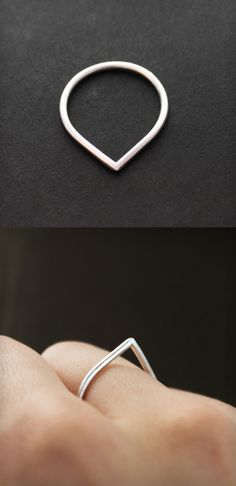 Teardrop ring- this is impractical. the point would not stay up, with that thin of a ring it would roll to the side all the time.