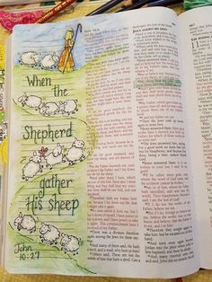 When the shepherd gathers His sheep. #ChurchSource #biblejournaling