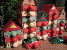 Village Advent Calendar DIY ~ Made with matchboxes