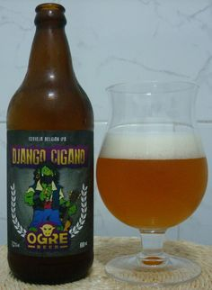 Cerveja Django Cigano, estilo Belgian IPA, produzida por Ogre Beer, Brasil. 7.3% ABV de álcool.