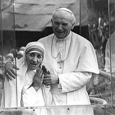 Karol Wojtyla and Mother Theresa