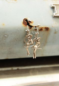 sweetheart of the rodeo earrings- available in BroNze and SiLVER - Junk GYpSy co.