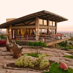 A beautiful vacation home with a picturesque view A Frame House Plans, Modern House Plans, Rural House, House In The Woods, Cabin Homes, Cottage Homes, Cottage House Designs, House On Stilts, Country Style Homes
