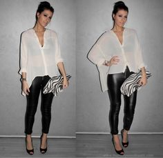 Outfit Inspirations...I need leather pants NOW!!