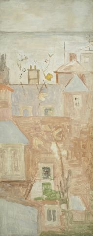 'Aldeburgh Houses' by Mary Potter (oil on canvas)