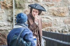 BTS - Cesar Domboy, aka Fergus Fraser of Outlander Season 3 Voyager - filming some scenes in Edinburgh's Old Town - January 17th, 2017