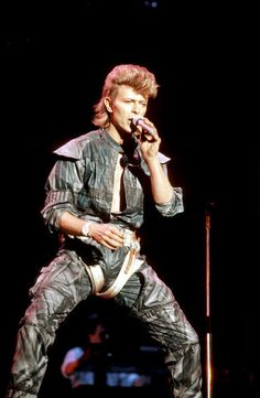 1983 - If we wondered what Ziggy Stardust might have looked like a decade later, this edgy number from the Serious Moonlight show was a pretty good approximation