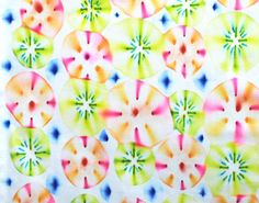 fabric designed using sharpies