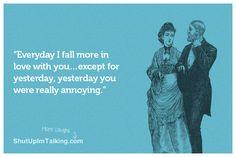ha ever feel like this? ;) shutupimtalking.com has more amazingness!