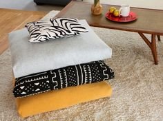 "How To Make ""Fold, Stitch & Stuff"" Floor Cushions"